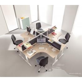 Bureau opératif Prems configuration Postes 90 degrés symétriques