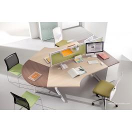 Bureau opératif Prems configuration Poste compact 120 degrés