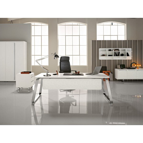 bureau de direction 70 39 s blanc. Black Bedroom Furniture Sets. Home Design Ideas
