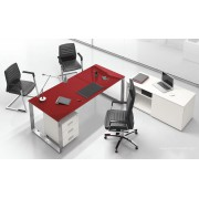 Bureau direction 5th Elément finition verre rubis