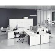 Bureau opératif 5th Elément blanc composition côte à côte