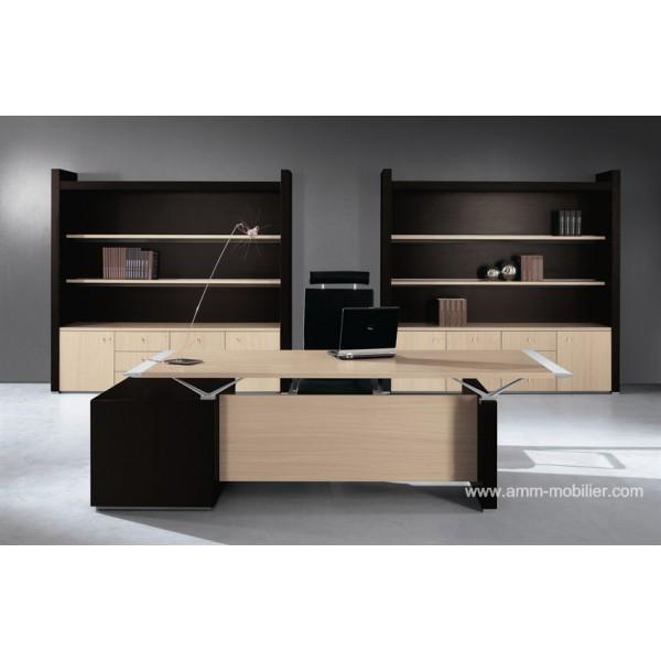 bureau de direction abc finition ch ne clair. Black Bedroom Furniture Sets. Home Design Ideas