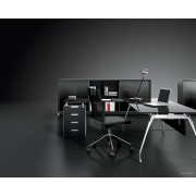 Bureau de direction Inspira finition verre noir