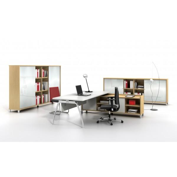bureau de direction inspira finition stratifi blanc. Black Bedroom Furniture Sets. Home Design Ideas