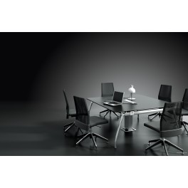 Table de Réunion Inspira finition stratifié noir
