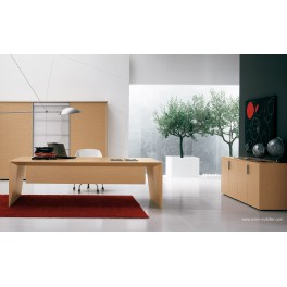 bureau de direction eracle finition ch ne clair. Black Bedroom Furniture Sets. Home Design Ideas