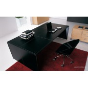 Bureau de direction Eracle finition cuir noir
