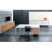 Bureau de direction Zefiro-exe finition verre blanc