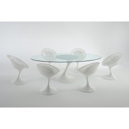 Table Atatlas verre transparent