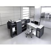 Bureau opératif trapèze Logic noir et blanc