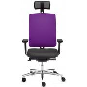 Siège de bureau Dat-o violet avec têtière