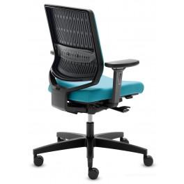Siège de bureau my-self capitonné turquoise