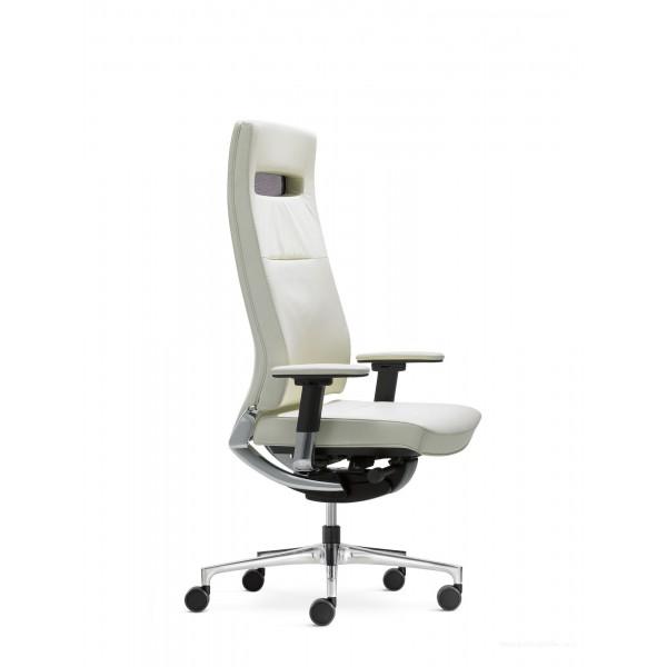 fauteuil de direction centeo blanc avec haut dossier. Black Bedroom Furniture Sets. Home Design Ideas