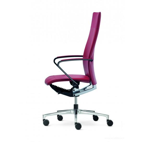fauteuil de direction ciello rouge avec haut dossier et accoudoirs design. Black Bedroom Furniture Sets. Home Design Ideas