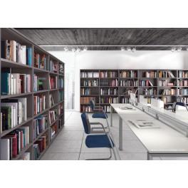 Armoire bibliothèque Universel en bois anthracite