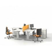 Bureau opératif compact 90 degrés Sintra S3 blanc