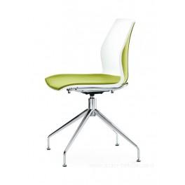 Chaise polyvalente bi-couleur KALEA avec pietement pivotant