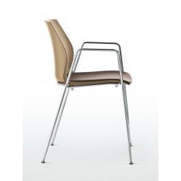 Chaise polyvalente 4 pieds KALEA avec assise garnie