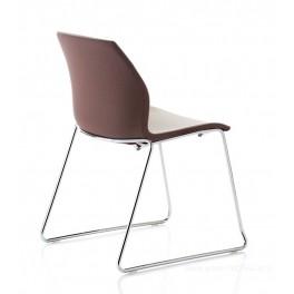 Chaise polyvalente pieds luge bi-couleur KALEA