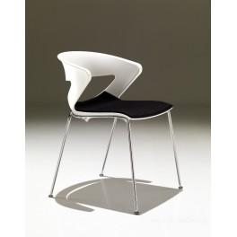 Chaise polyvalente 4 pieds KICCA avec assise garnie