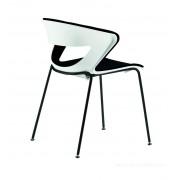 Chaise polyvalente 4 pieds KICCA avec assise et dossier garnis