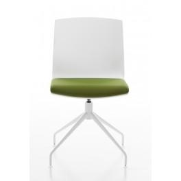 Chaise polyvalente pivotante KIMBOX avec assise garnie