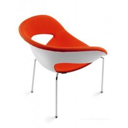 Chaise polyvalente 4 pieds KRIZIA avec contre-coque interne garnie