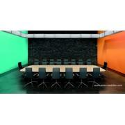 Table de réunion tonneau chêne clair FINA