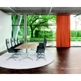 Table de réunion rectangulaire chêne clair FINA