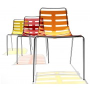 Chaise polyvalente transparente 4 pieds Body to Body