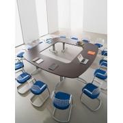 Table de réunion Icone finition chêne de fil brun