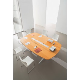 Table de réunion Icone finition orange