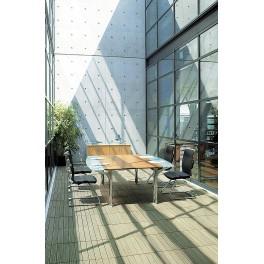 Table de réunion Nautile avec extensions en verre