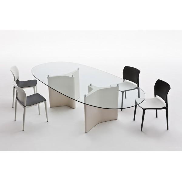 table de r union tee ovale. Black Bedroom Furniture Sets. Home Design Ideas