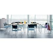 Table de réunion pliante N.F.T configuration rectangulaire
