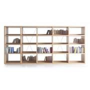 Bibliothèque autoportante Jakin en hêtre naturel