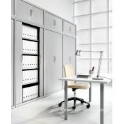 Armoire classeur PV-AMT Plus avec portes rideaux aluminium