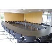 Table de réunion ou conférence sur mesure finition wengé n°3