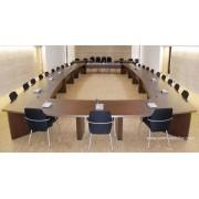 Table de réunion ou conférence sur mesure finition wengé n°4