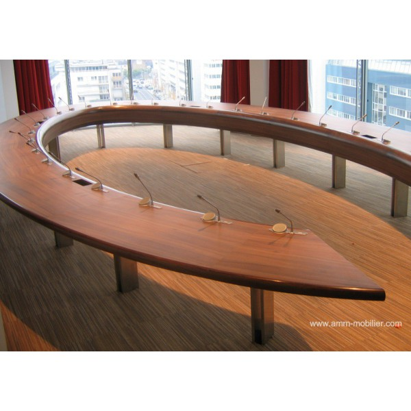 table de r union ou conf rence sur mesure finition merisier n 6. Black Bedroom Furniture Sets. Home Design Ideas