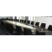 Table de réunion ou conférence éliptique sur mesure finition wengé n°7