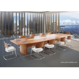 Table de réunion Numen finition noyer italien