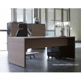 Bureau de direction Urbana finition teack naturel et marron