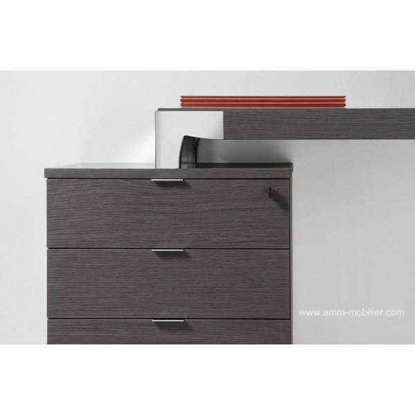 bureau de direction hydra finition ch ne gris. Black Bedroom Furniture Sets. Home Design Ideas