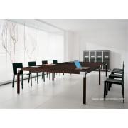 Table de réunion rectangulaire Hydra finition wengé