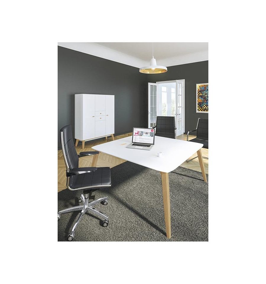 bureau de direction organik finition ch ne blanc. Black Bedroom Furniture Sets. Home Design Ideas