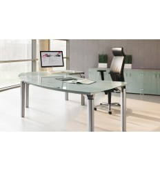 Bureau de direction M38 finition verre transparent