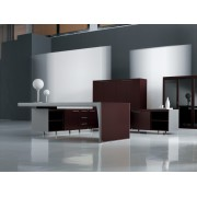 Bureau de direction CX rosewood et aluminium