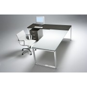 Bureau de direction Loopy en verre