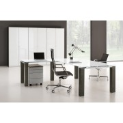 Bureau de direction Jet finition verre blanc